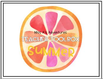 Tropical Teacher Toolbox Labels