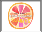 Tropical Teacher Toolbox Labels