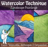 Watercolor Technique Landscape - Watercolor painting - Sec