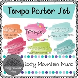 Watercolor Tempo Poster Set