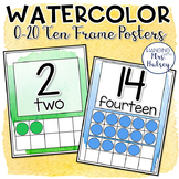 Watercolor Ten Frame Posters