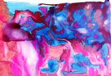 Watercolor Texture: Magenta