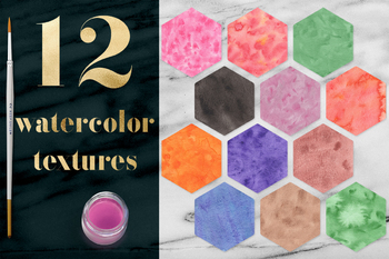 Watercolor Texture Pack, Hand Painted Watercolour Textures