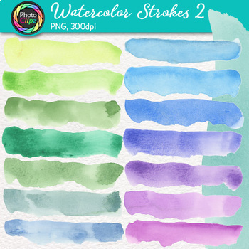 Watercolor Textures Clip Art Bundle {Hand-Painted Graphics for Backgrounds}