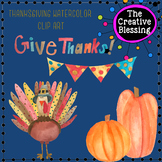 Watercolor Thanksgiving Clip Art