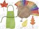 Watercolor Thanksgiving Essentials Digital Clip Art Set