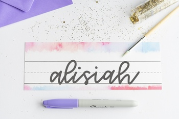 Watercolor Theme Desk Name Tag / Desk Name Plate FREEBIE