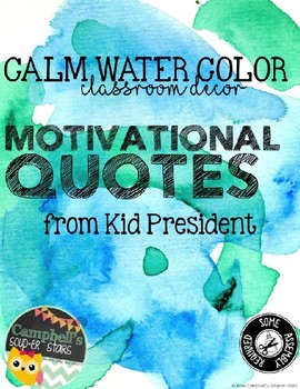 Water Color Theme {Motivational Posters}