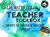 Water Color Theme {Teacher Toolbox}