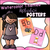 Watercolor Themed Alphabet Posters