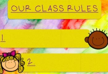 Watercolor Themed Classroom Decor