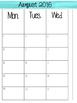 Watercolor-Themed Teacher Calendar & Lesson Planner