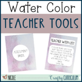 Watercolor Themed Teacher Resource Kit