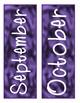 Watercolor Tie-Dye Calendar - Purple, Blue, Green