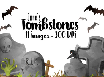 Watercolor Tombstone Clipart