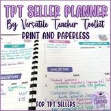 Watercolor TpT Seller Planner by Versatile Teacher Toolkit