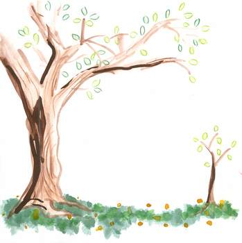 Watercolor Tree Clip Art