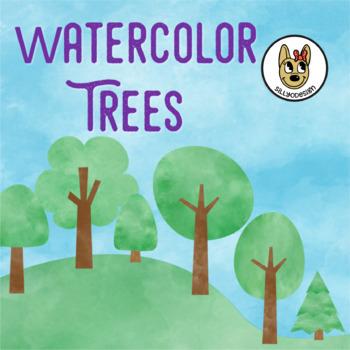 Watercolor Trees Clip Art