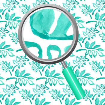 Watercolor Tropical Jungle Leaves Digital Paper / Backgrounds Clip Art
