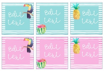 Tropical Watercolor Target Dollar Spot Labels