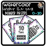 Watercolor Under the Sea Classroom Number Posters