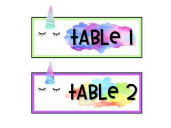Unicorn Classroom Decor - EDITABLE BUNDLE