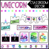 Unicorn Classroom Decor - EDITABLE BUNDLE