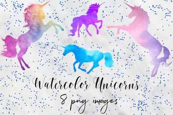 Unicorn magical. Watercolor graphics clipart unicorns