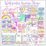 Watercolor Unicorn Theme Classroom Decor Kit