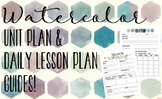 Watercolor Lesson Plan and Unit Plan Template