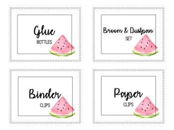 Watercolor Watermelon Classroom Wish List - Editable