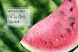 Watercolor Watermelon Clip Art