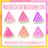 Watercolor Watermelon Clip Art Set for Commercial Use