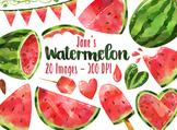 Watercolor Watermelon Clipart