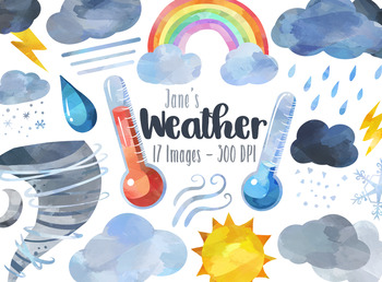 Watercolor Weather Clipart
