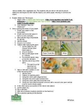 Watercolor Weaving Still Life Collage Visual Arts Lesson for 4th to 10th Grade