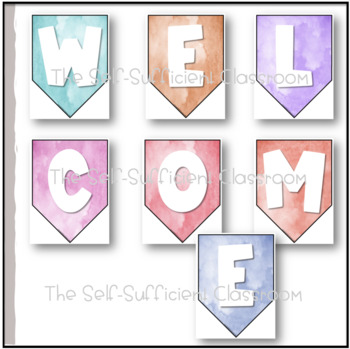 Watercolor Welcome Back Banners (2 Sets)