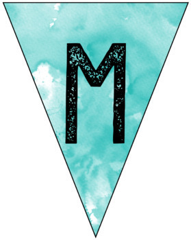 Watercolor Welcome Back Pennants - Editable