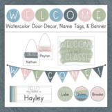 Watercolor Welcome - Editable Door Decor & Name Tags