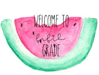 Watercolor Welcome Posters (K-5)