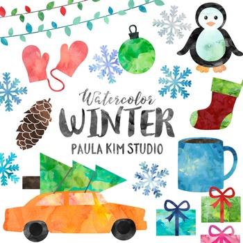 Watercolor Winter Clip Art