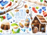 Watercolor Winter Clipart