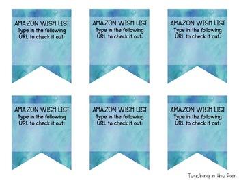 Watercolor Wish List Banner {Editable & Free!}