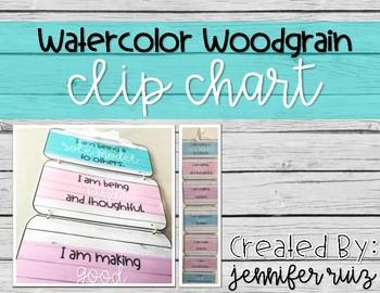 Watercolor Wood Grain Clip Chart