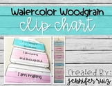 Watercolor Wood Grain Clip Chart