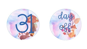 Watercolor Woodland Numbers and Ten Frame Set
