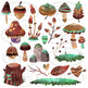 Watercolor Woodland Plants Clipart