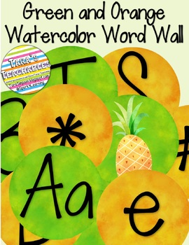 Watercolor Word Wall
