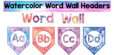 Watercolor Word Wall