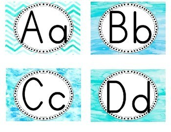 Watercolor Word Wall Cards